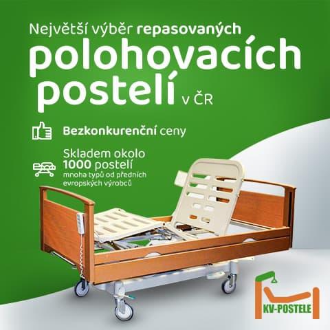Polohovací zdravotní postel pro seniory KV-POSTELE